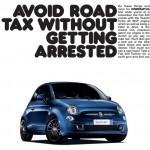 Fiat drops 'road tax' from its adverts