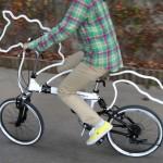 Man (with motor) v horse v bike