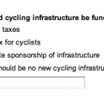 Who should pay for cycle infrastructure?