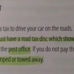Wannabe UK citizens are told 'road tax' exists
